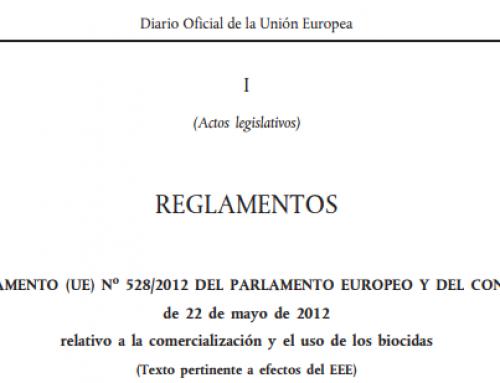 Marco legislativo de los biocidas en España